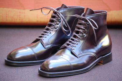 Alden Shoes Plaza Cap Toe Dress Boot Leather