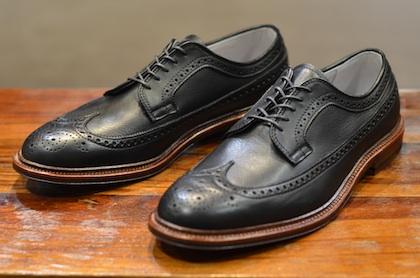 Leffot X Alden Black Longwing Brogue | Double Select: Footwear