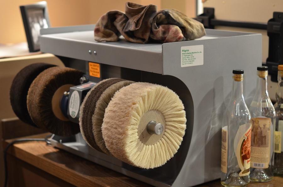 Will's Polishing Machine Leather SoulLeather Soul Stunning Pilgrim Shoe Sewing Machine Company