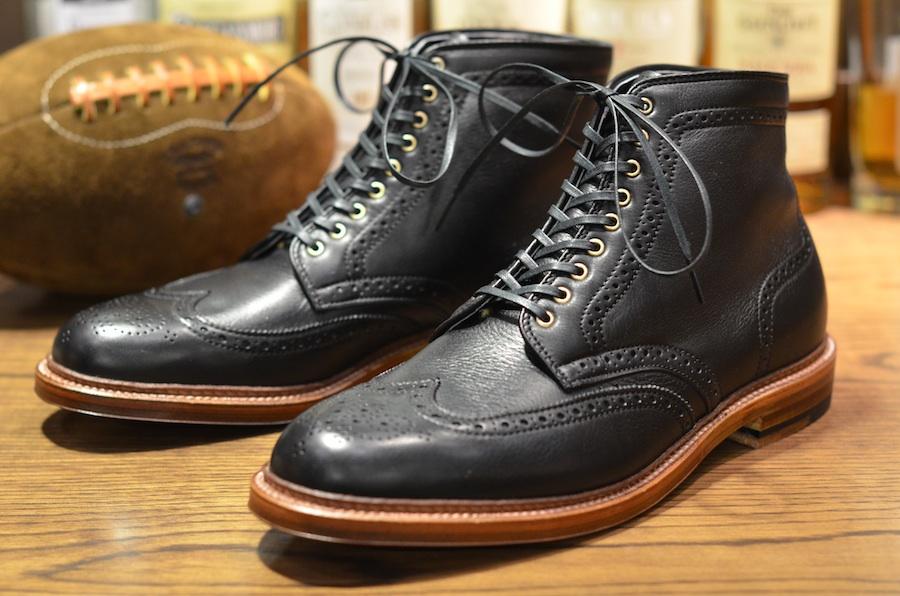 Mens Black Wingtip Shoes Pm
