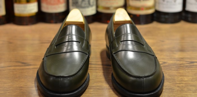 Jm Weston 180 Loafer In Hunter Green Lsw Leather