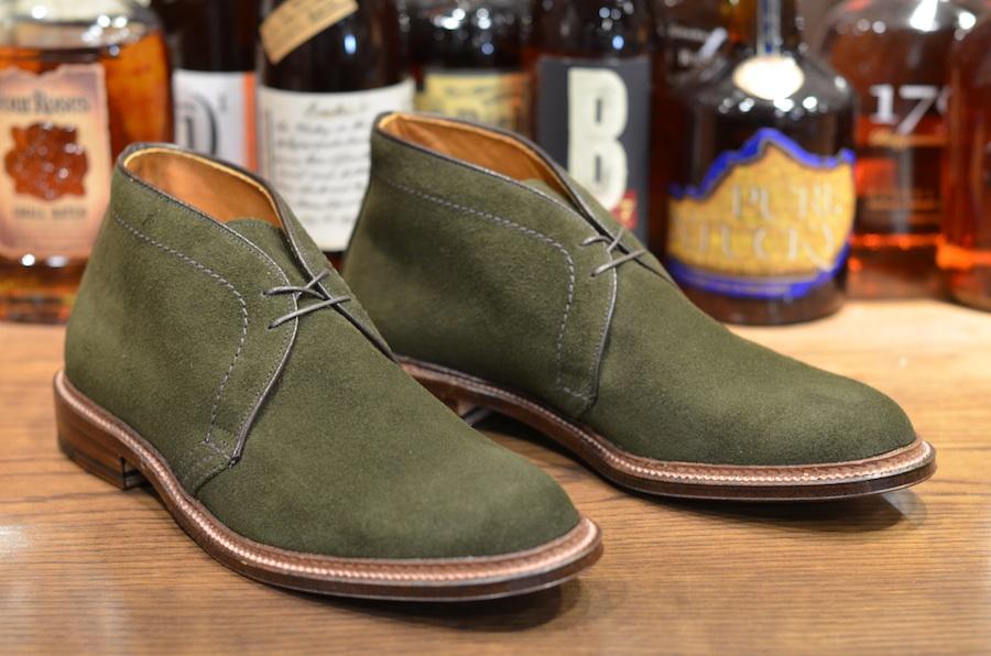 Alden Shoe - Green Suede Flex Chukka