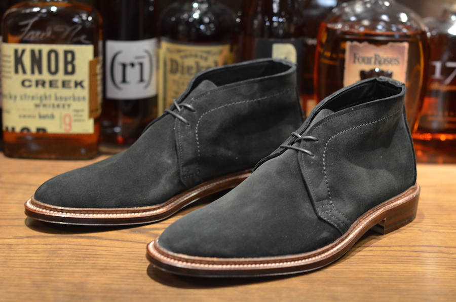 Alden Shoe - Unlined Suede Chukka in Black (LSW) - Leather