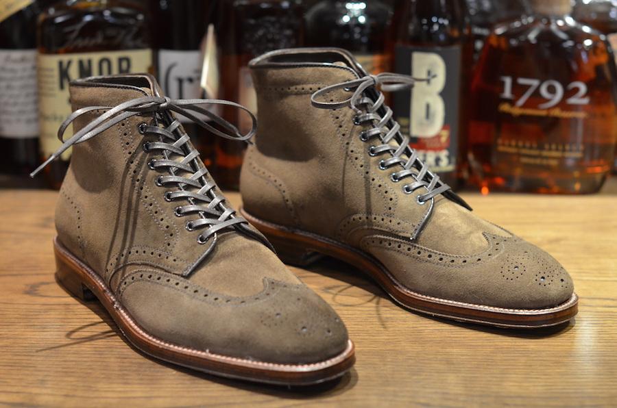Alden Shoe - Plaza Wingtip Boot in Dark