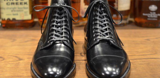 Alden Shoe Black Calf Plaza Cap Toe Boot Lsw Leather